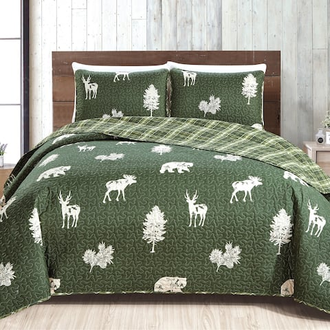 Rio Ridge Collection 3 Piece Lodge Quilt Set with Shams