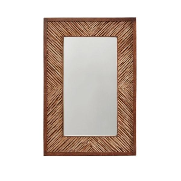 Wood Blend Wood Framed Mirror - Wood Blend