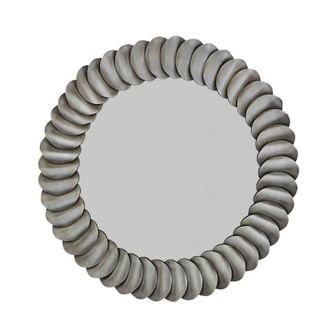 Aged Zinc Metal Frame Mirror - Aged Zinc