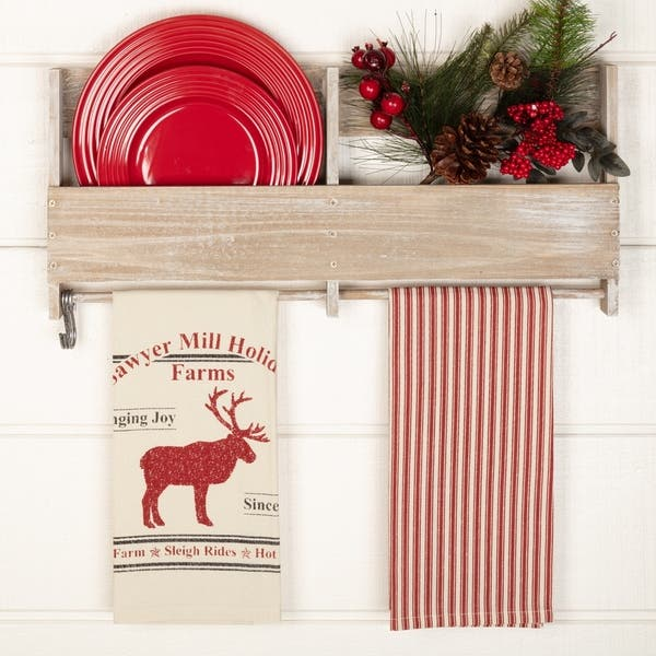 Shop White Farmhouse Holiday Decor VHC Sawyer Mill Holidays ...