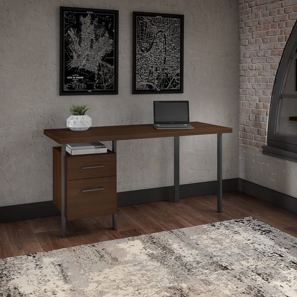 Bush Furniture Architect 60W Writing Desk with Drawers