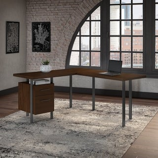 Bush Furniture Architect 60W L Shaped Desk with Drawers