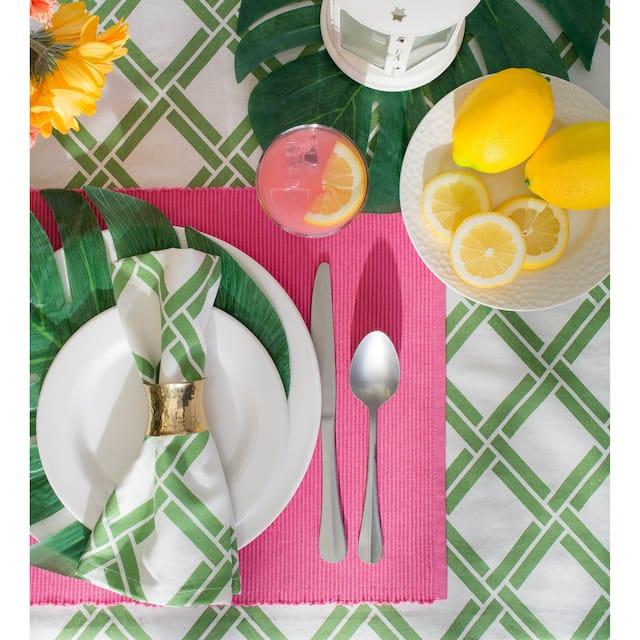 DII Lemon Bliss Print Tablecloth 70 Round
