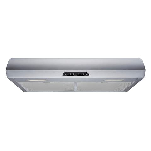 "Winflo 30"" 480 CFM Convertible Stainless Steel Under Cabinet Range Hood"