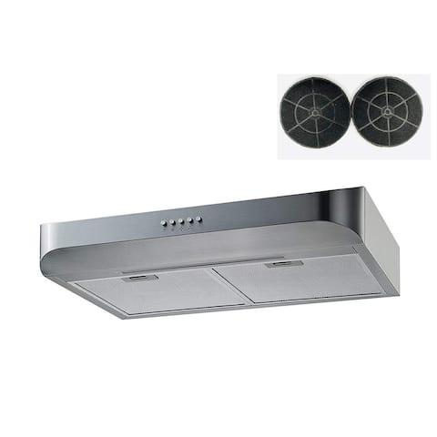 "Winflo 30"" 350 CFM Convertible Stainless Steel Under Cabinet Range Hood"
