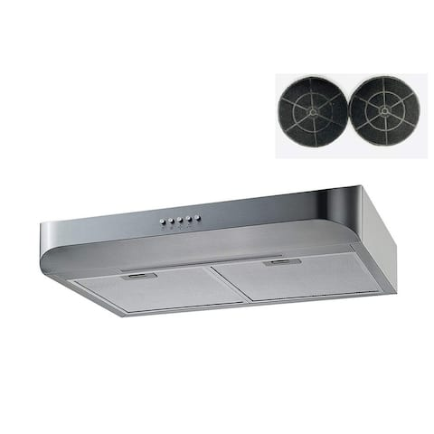 "Winflo 30"" 350 CFM Convertible Stainless Steel Under Cabinet Range Hood"