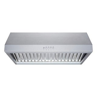 "Winflo 30"" 480 CFM Convertible Stainless Steel Under Cabinet Range Hood"