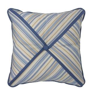 "Croscill Janine 16"" Blue Striped Fashion Pillow"