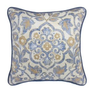 "Croscill Janine 18"" Damask Square Pillow"