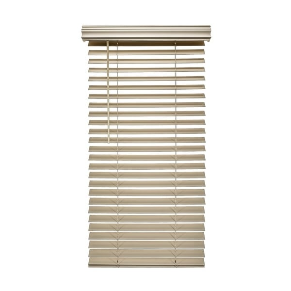 Porch & Den Jex Embossed Fauxwood Cordless 2-inch Blinds. Opens flyout.