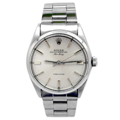 Pre-owned 34mm Rolex Stainless Steel Oyster perpetual Airking Watch - N/A