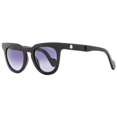 Moncler ML0008 01B Womens Black 48 mm Sunglasses