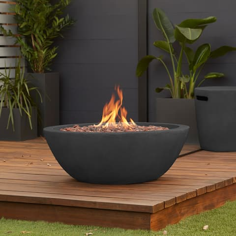 Riverside Gas Fire Bowl in Shale - N/A