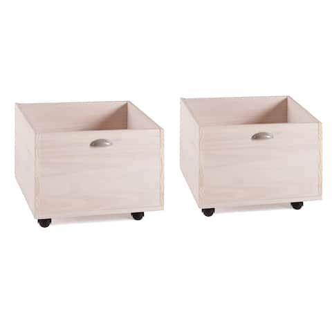 Taylor & Olive Diascia Pine Wood Toy Boxes