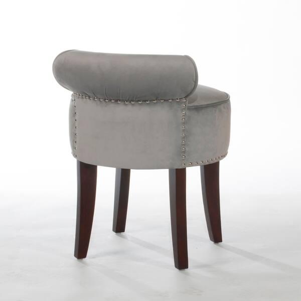 Excellent Shop Lena Vanity Stool Dark Expresso Steel On Sale Alphanode Cool Chair Designs And Ideas Alphanodeonline