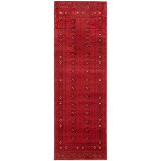 Handmade Bokhara Red Rug - ECARPETGALLERY - 2'8 x 8'0