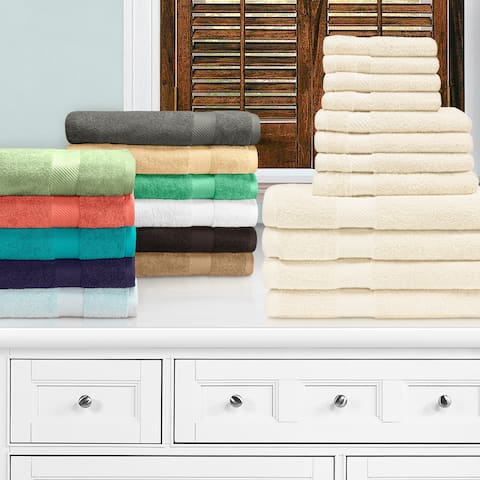 Miranda Haus Ismailia 100-Percent Egyptian Cotton 12-Piece Towel Set