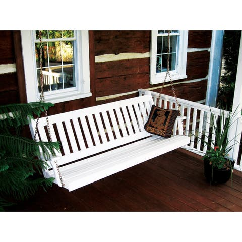 6 Foot Pine Outdoor Traditional English Swing
