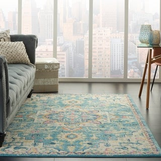 The Curated Nomad Cayuga Abstract Medallion Area Rug