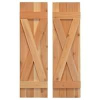 X Board & Batten Exterior Shutters Pair