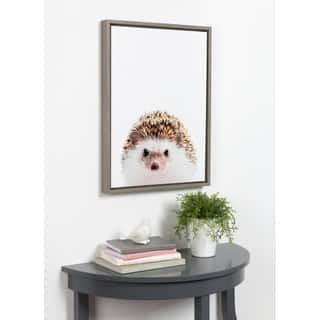 Kate and Laurel Sylvie Hedgehog Framed Canvas by Amy Peterson