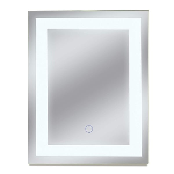 Dyconn Faucet Edison Wall-mounted LED Backlit Tri-Color Mirror - Clear