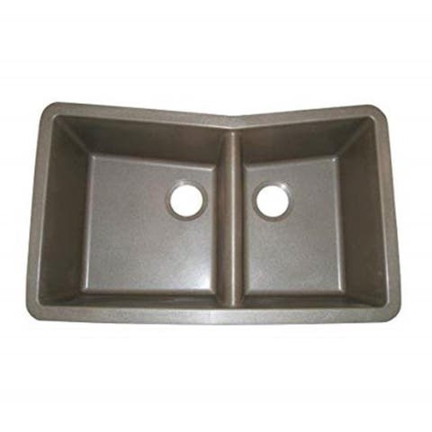 60/40 Double Basin Granite Composite Undermount Kitchen Sink