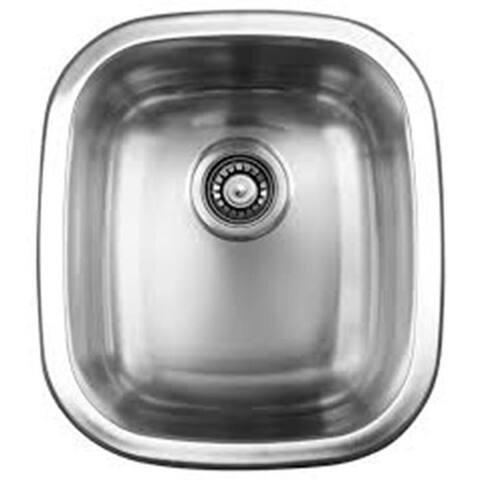 Ukinox UN345 Single Basin Stainless Steel Dual Mount Kitchen Sink - Rectangle
