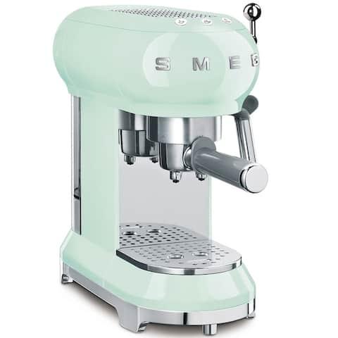 Espresso 50's Retro Style Aesthetic Espresso Coffee Machine, Pastel Green