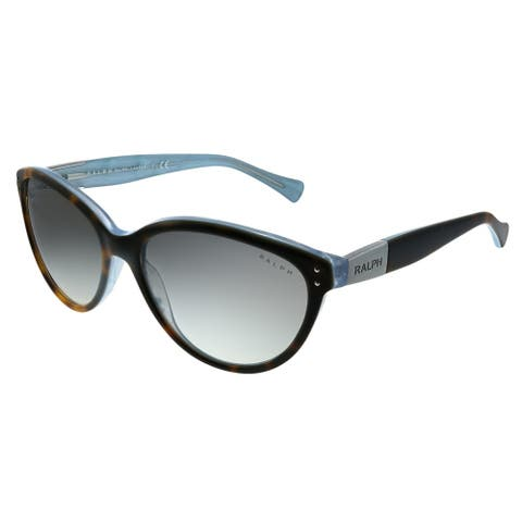 Ralph by Ralph Lauren RA 5168 601/11 Womens Tort on Turquoise Frame Grey Gradient Lens Sunglasses