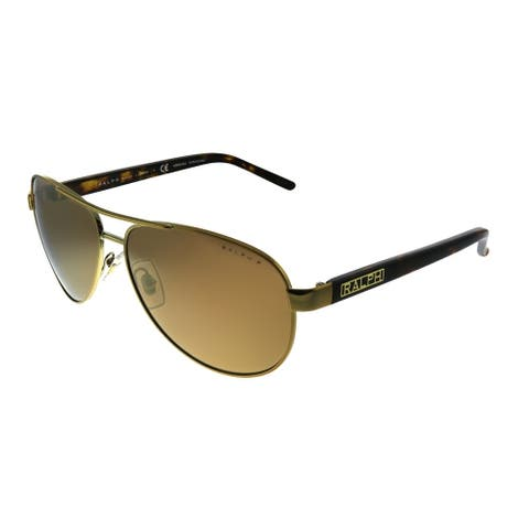 Ralph by Ralph Lauren RA 4004 1012T Unisex Gold Frame Gold Mirror Polarized Lens Sunglasses