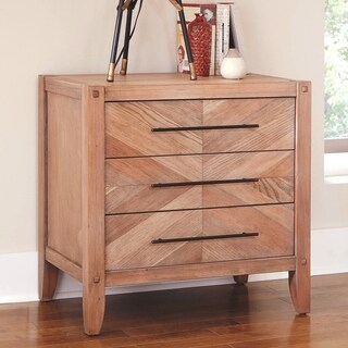 Loft Design Natural Withwashed Wood Nightstand
