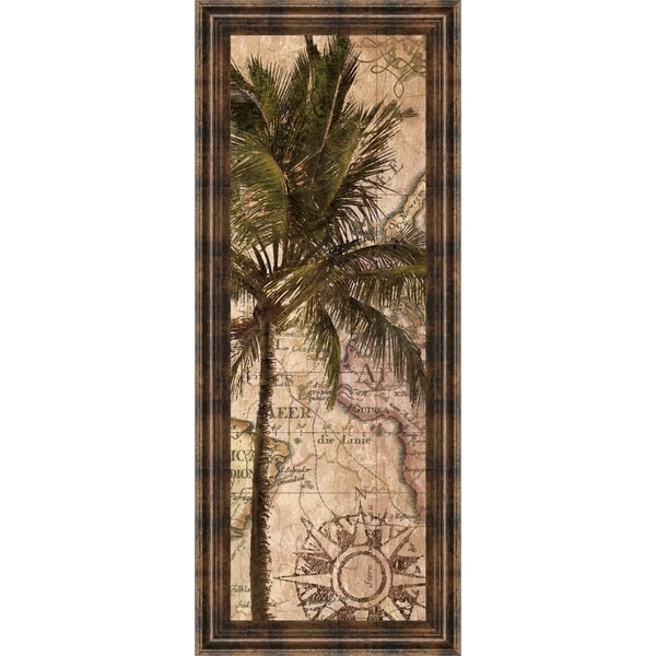 """18 in. x 42 in. """"Exotic Destination I"""" By Katrina Craven Framed Print Wall Art"""