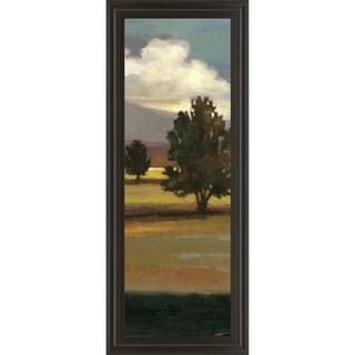 """18 in. x 42 in. """"Mountain Range IV"""" By Norman Wyatt, Jr. Framed Print Wall Art"""