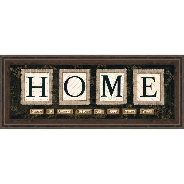 "18 in. x 42 in. ""Home"" By Anne Lapoint Mirrored Framed Print Wall Art"