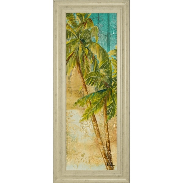"""18 in. x 42 in. """"Beach Palm Panel 1"""" By Patricia Pinto Framed Print Wall Art"""