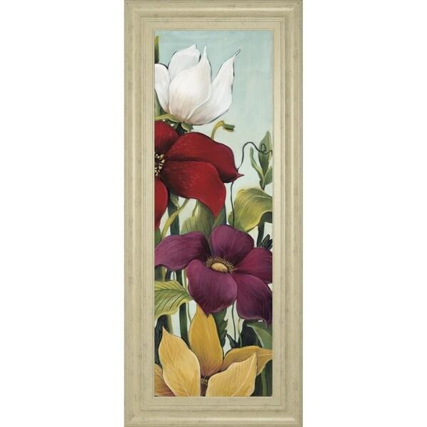 "18 in. x 42 in. ""Efflorescence"" By Maja Framed Print Wall Art"
