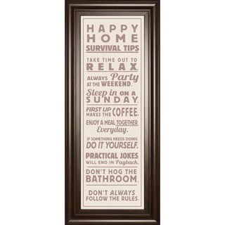 "18 in. x 42 in. ""Survival Tips 2 Sepia"" By The Vintage Collection And Mossy Oak Native Living Framed Print Wall Art"
