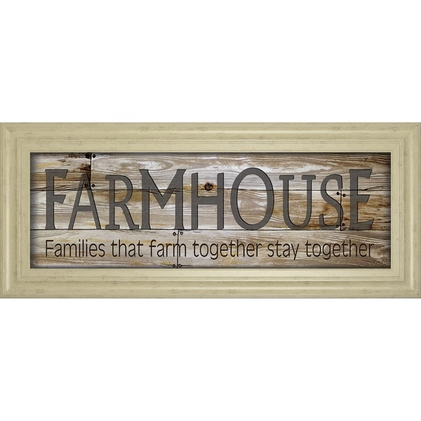 """18 in. x 42 in. """"Farmhouse"""" By Cindy Jacobs Framed Print Wall Art"""