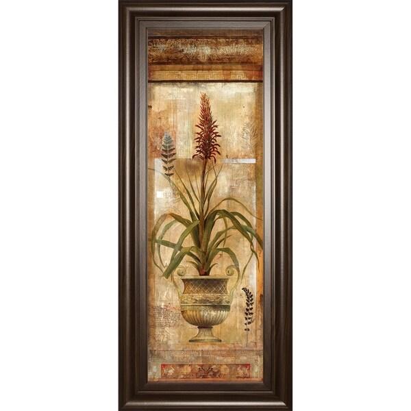 "18 in. x 42 in. ""Rojo Botanical Il"" By Douglas Framed Print Wall Art"