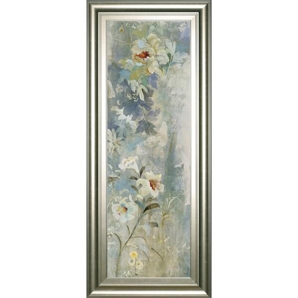 """18 in. x 42 in. """"Garden Haiku Il"""" By Douglas Framed Print Wall Art"""