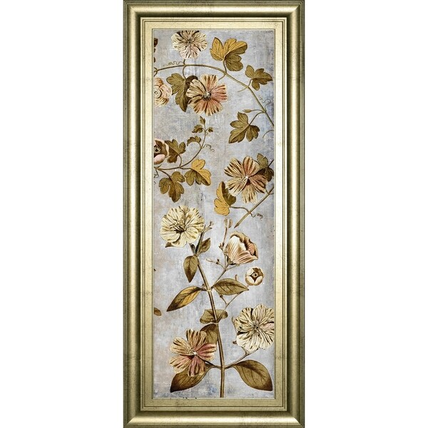 "18 in. x 42 in. ""Romantica Panel III"" By Emma Hill Framed Print Wall Art"
