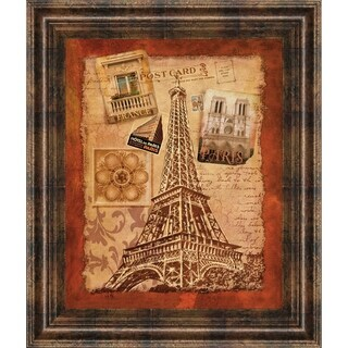 "22 in. x 26 in. ""Memories Of Paris"" By Conrad Knutsen Framed Print Wall Art"
