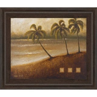 """22 in. x 26 in. """"Tropical Escape Il"""" By Michael Marcon Framed Print Wall Art"""
