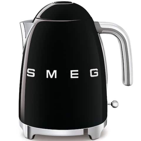 Smeg 50's Retro Style Aesthetic Electric Kettle, Black