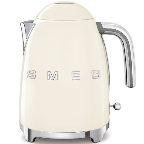 Smeg 50's Retro Style Aesthetic Electric Kettle, Cream
