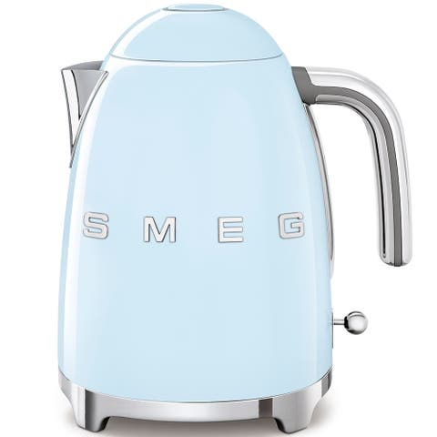 Smeg 50's Retro Style Aesthetic Electric Kettle, Pastel Blue