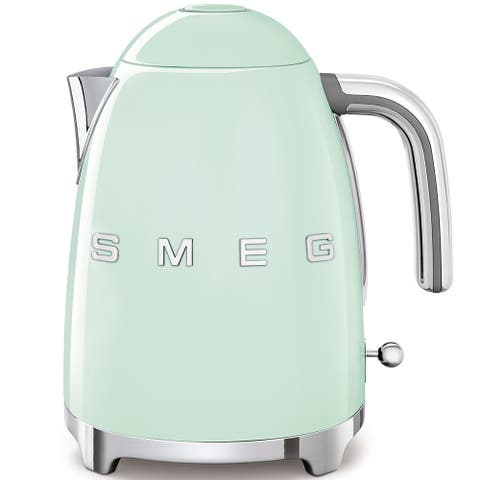 Smeg 50's Retro Style Aesthetic Electric Kettle, Pastel Green