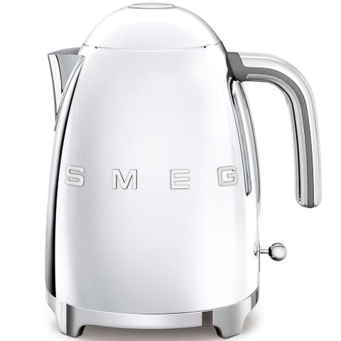 Smeg 50's Retro Style Aesthetic Electric Kettle, Polished Stainless Steel