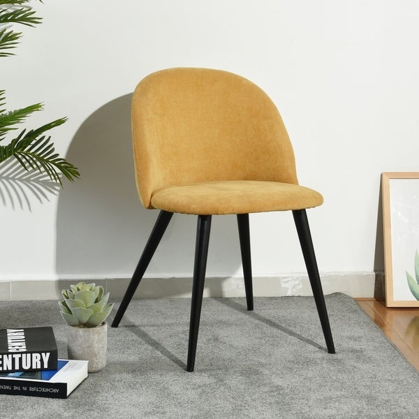 Shop Furniture R Fabric Living Room Side Chair Modern Dining Chair ...